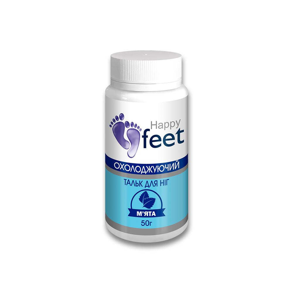 """Тальк для ног """"Охлаждающий"""" HAPPY FEET (мята) 50 г"""