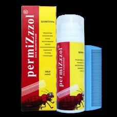 Пермизол (PERMIZZZOL) шампунь по уходу за волосами после использования профилактического средства от вшей и гнид с гребешком, 150 мл