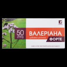 Валеріана форте, добавка дієтична, таблетки 0,18 г №50