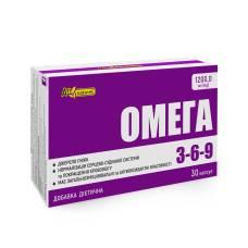 Омега 3-6-9 AN NATUREL (1200.0 мг смесь рыбьего жира и масел семян льна), диетическая добавка, капсулы №30