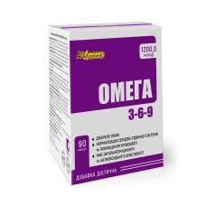 Омега 3-6-9 AN NATUREL (1200.0 мг смесь рыбьего жира и масел семян льна), диетическая добавка, капсулы №90