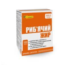 Рыбий жир AN NATUREL (500,00 мг рыбьего жира) добавка диетическая, капсулы №100