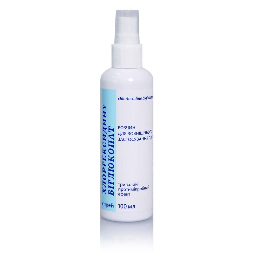 Хлоргексидина биглюконат 0,05 % раствор для внешнего применения спрей 100 мл