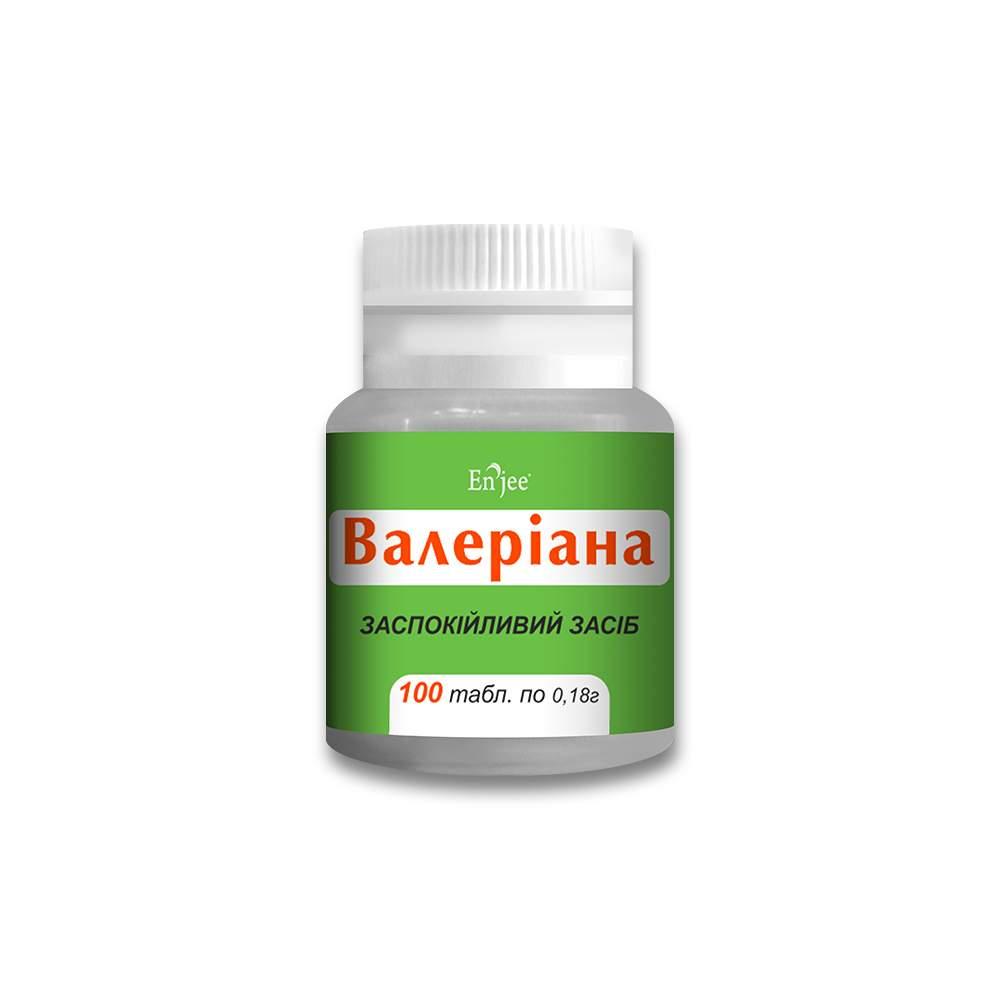 Валериана ENJEE, таблетки 180 мг №100 флакон