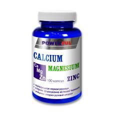 CALCIUM MAGNESIUM ZINC POWERFUL капсулы 1,0 г №100 Банка (Кальций, магний, цинк)